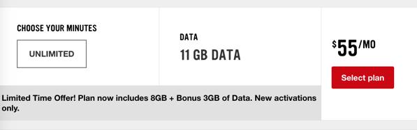 Virgin $55 11gb