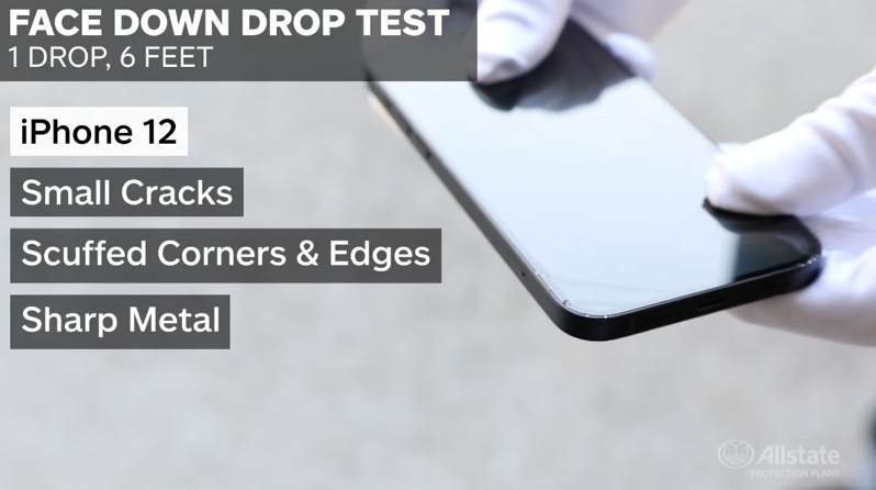 Allstate iphone 12 drop test