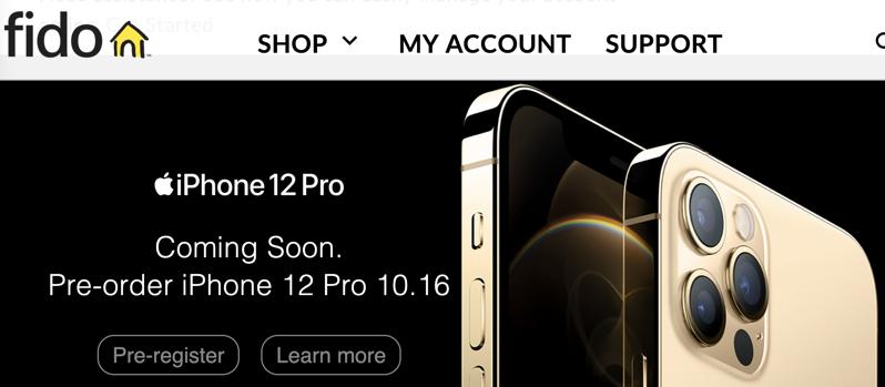 Fido iphone 12 pre order