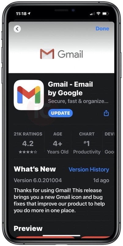 Google's New Gmail Icon is Now Available on iPhone and iPad