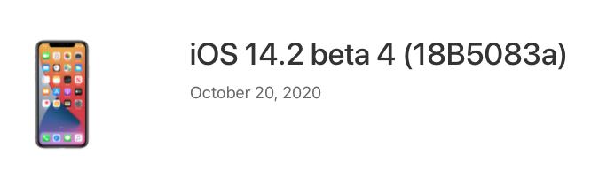 Ios 14 2 beta 4