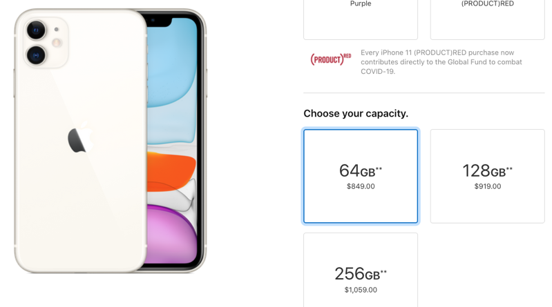 Iphone 11 pricing canada october 2020