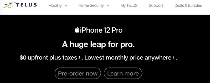 Iphone 12 pro telus