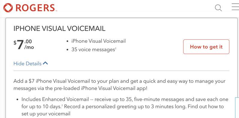 Rogers iphone visual voicemail