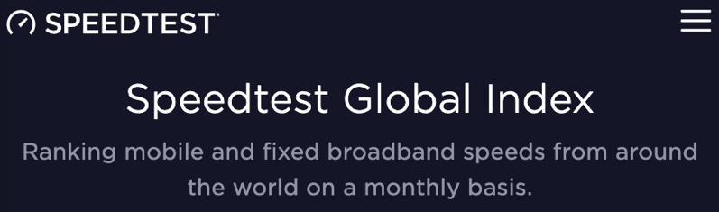 Speedtest global index