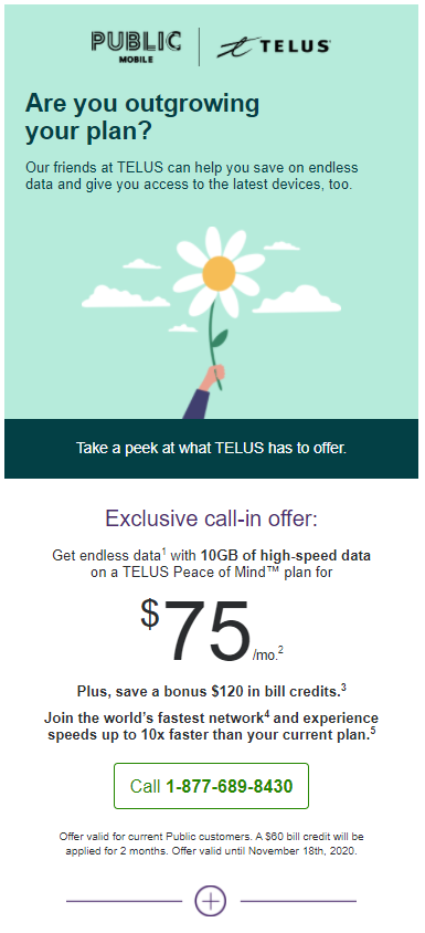 Telus public mobile offer switch