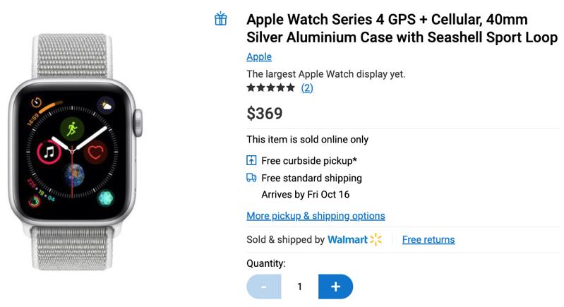 Walmart apple watch series 4