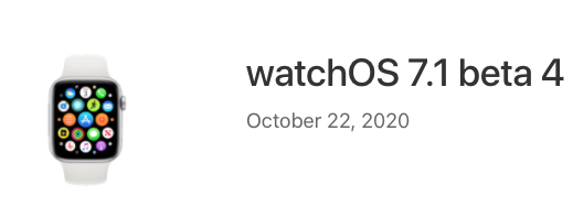watchOS 7.1 Beta 4 Download Released for Developers