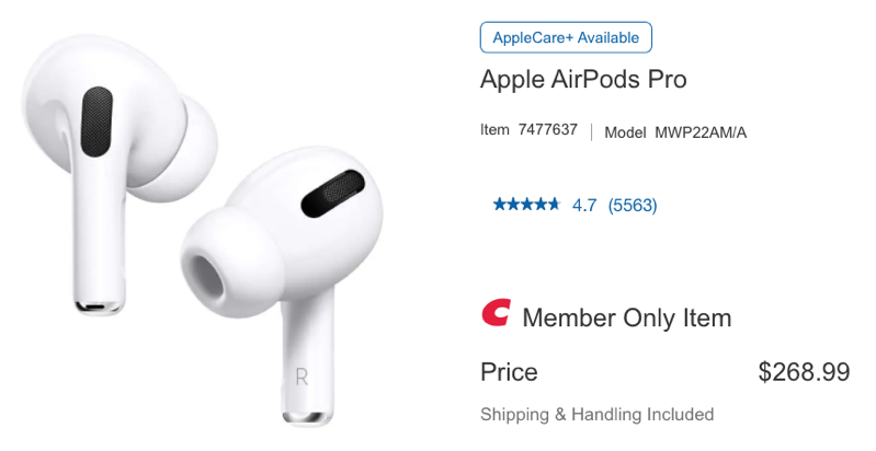 Airpods pro sale costco