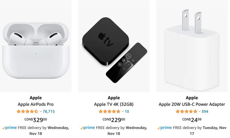 Apple canada amazon