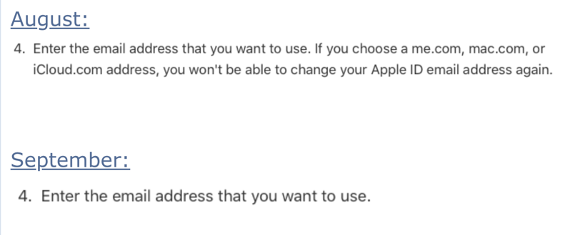 Apple id email change