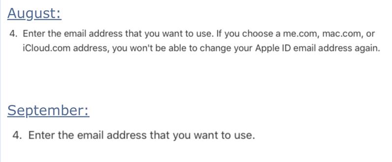 Apple Makes Slight Change to Apple ID Email Address Options