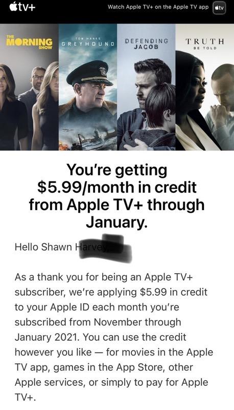 Apple tv+ credit
