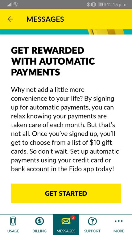 Fido automatic payments