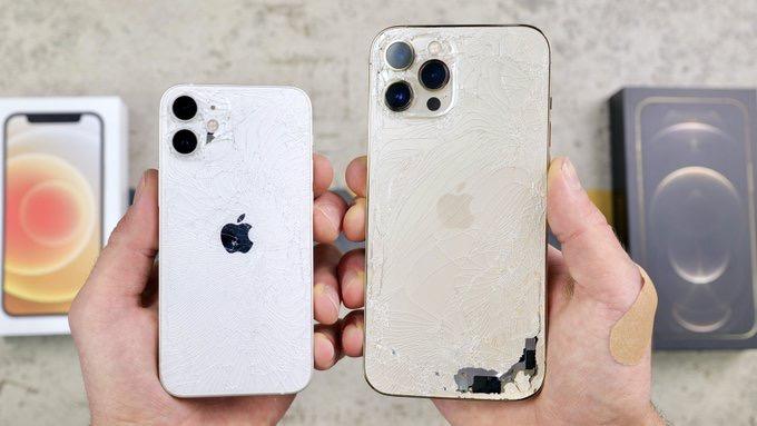 Iphone 12 pro max vs iphone 12 mini drop test