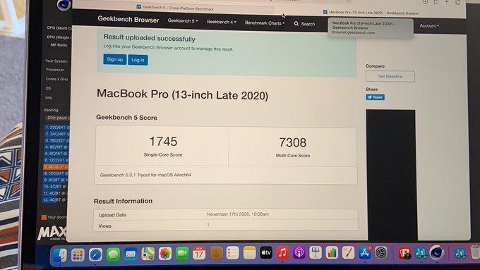 M1 macbook pro geekbench