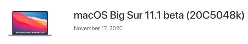 Macos big sure 11 1 beta