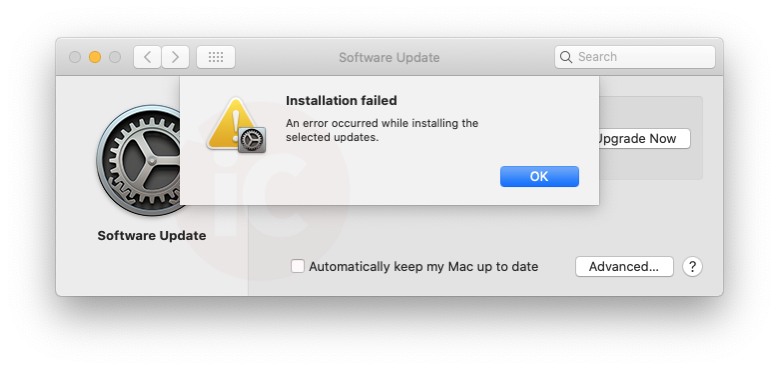 Macos installation failed