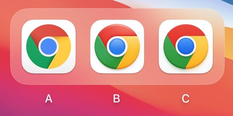 New chrome icons mac