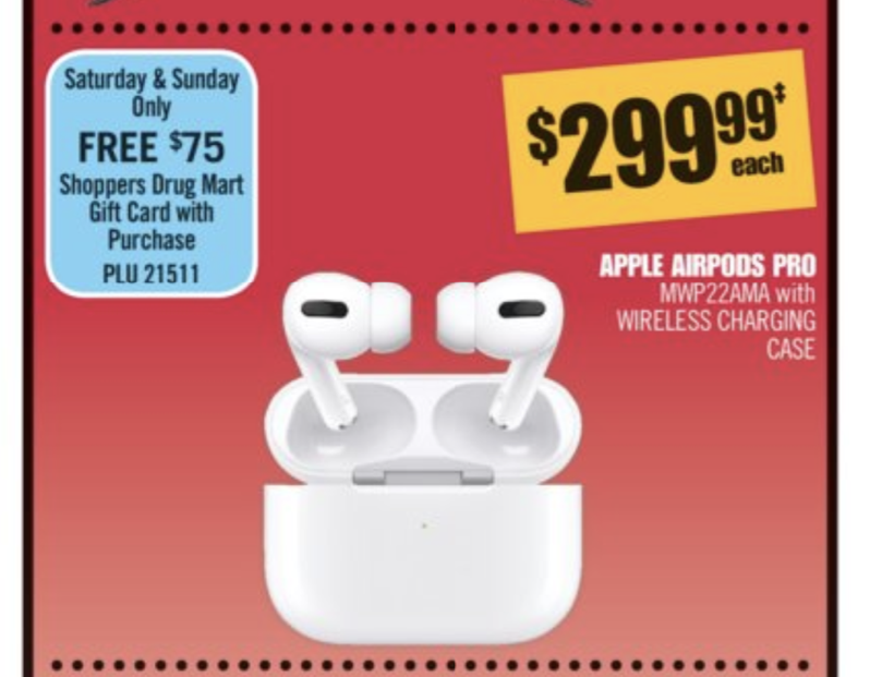 Shoppers drug mart airpods pro