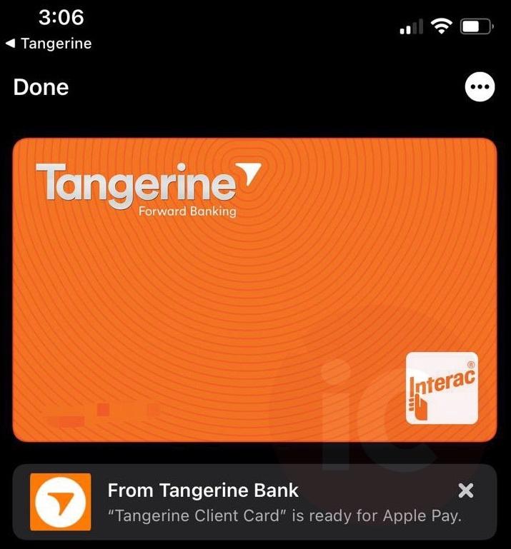 Tangerine visa debit 2