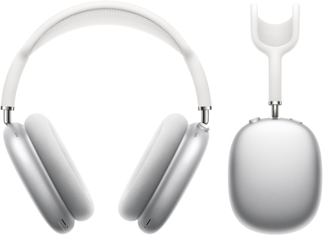 Airpods max silver hero