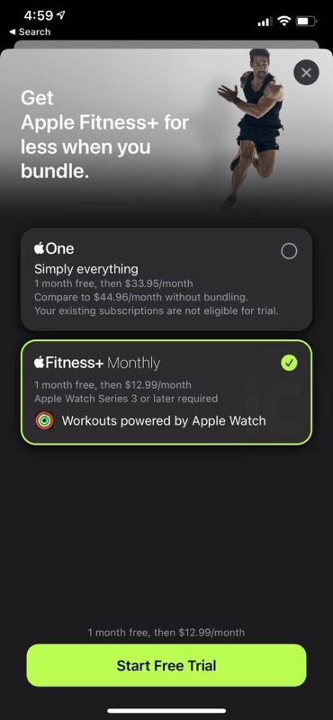 Apple watch fitness+ one month 2