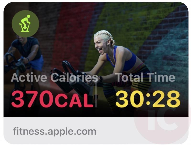Fitness+ sharesheet