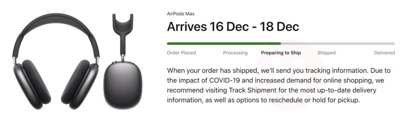 Airpods max shipped canada