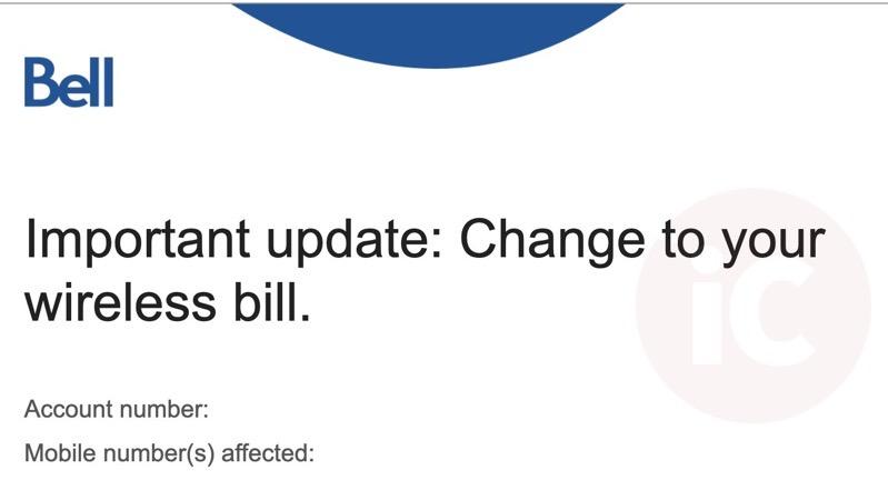 Bell wireless bill