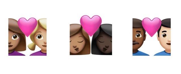 Couples with skin tones ios 14 5 emojipedia