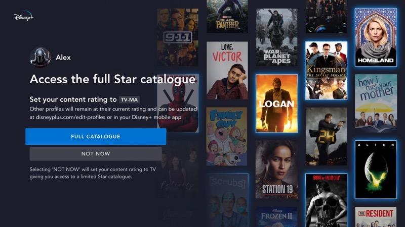 Disney plus star full catalogue