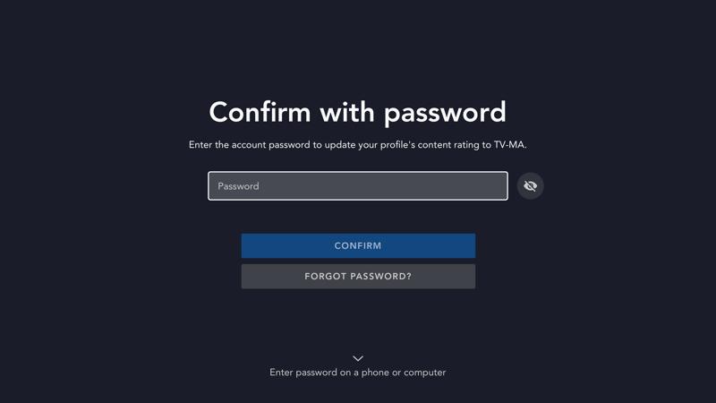 Disney star confirm password