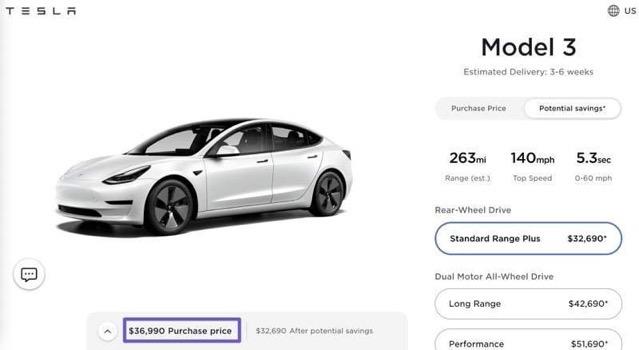 Model 3 price drop