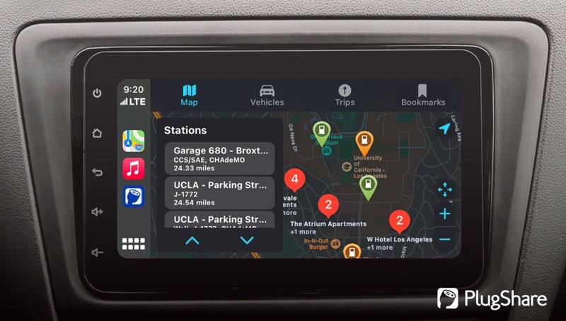 Plugshare apple carplay