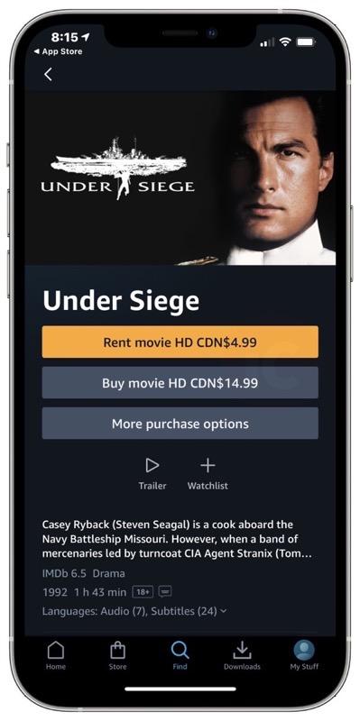 Prime video app rental