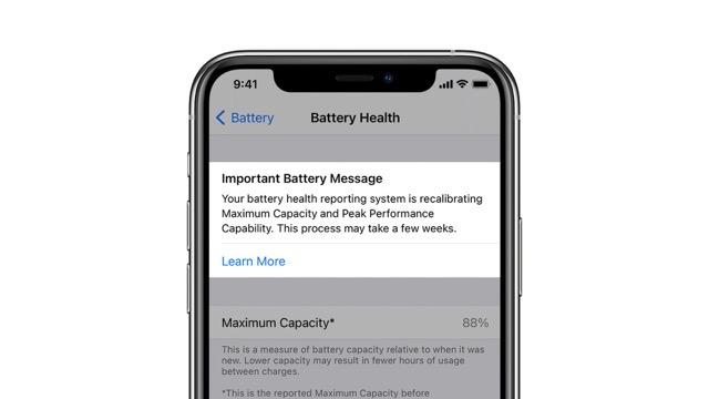 Battery recalibration iPhone