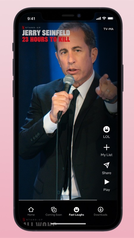 FAST LAUGHS ANIMATIONS v11 for stills Jerry Seinfeld Pink