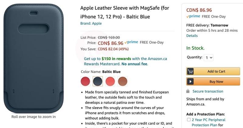 Amazon leather sleeve magsafe
