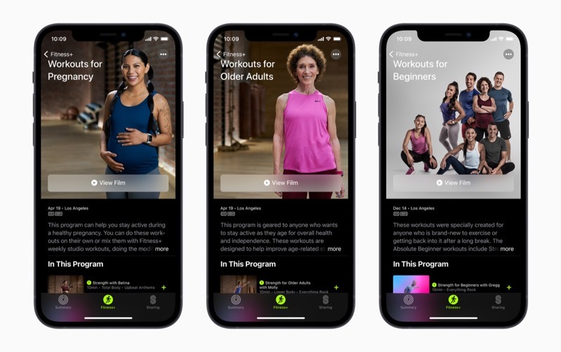Apple iphone12 apple fitness plus workout for pregnancy and older adults and beginners 041521