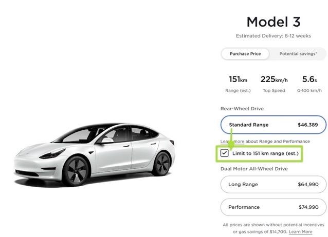 Model 3 canada