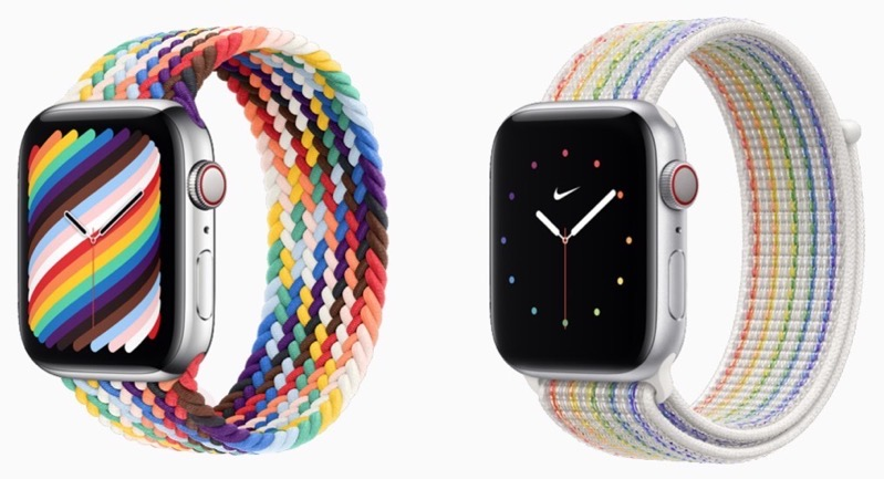 2021 apple watch pride edition bands
