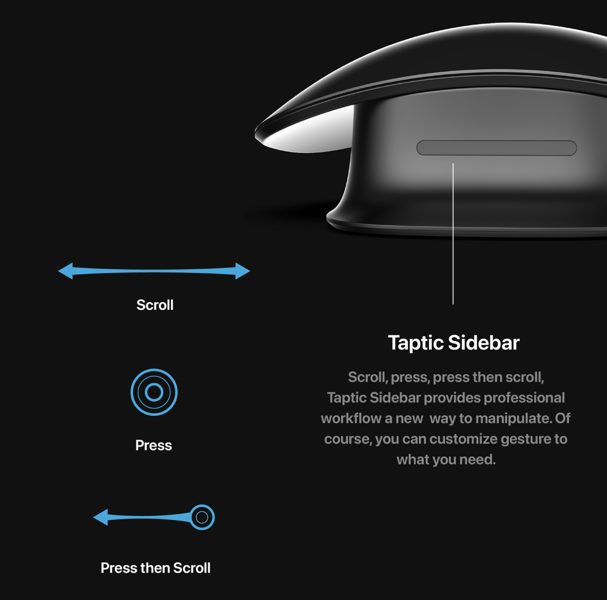 Apple pro mouse concept taptic sidebar