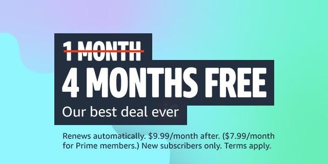 4 months free amazon music