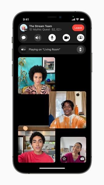 Apple iPhone12Pro iOS15 FaceTime expanse groupfacetime 060721 carousel jpg large 2x