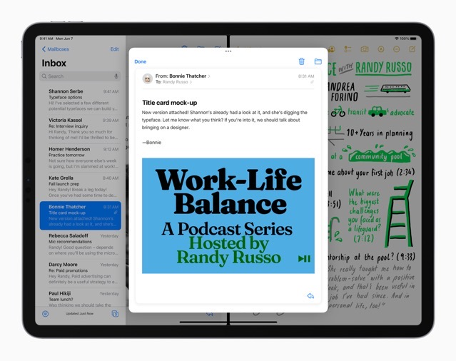 Apple iPadPro iPadOS15 multitasking splitview 060721 big jpg large 2x