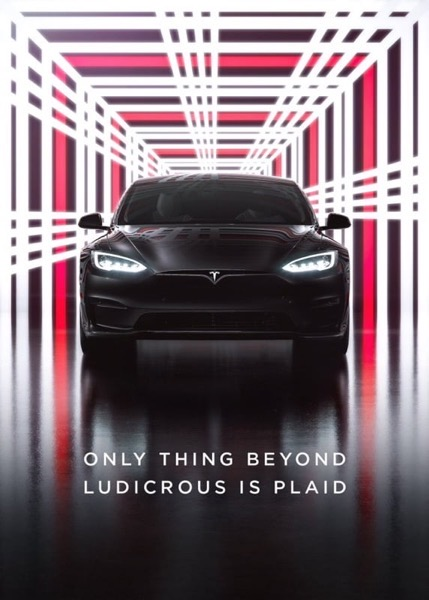 Tesla model s event plaid