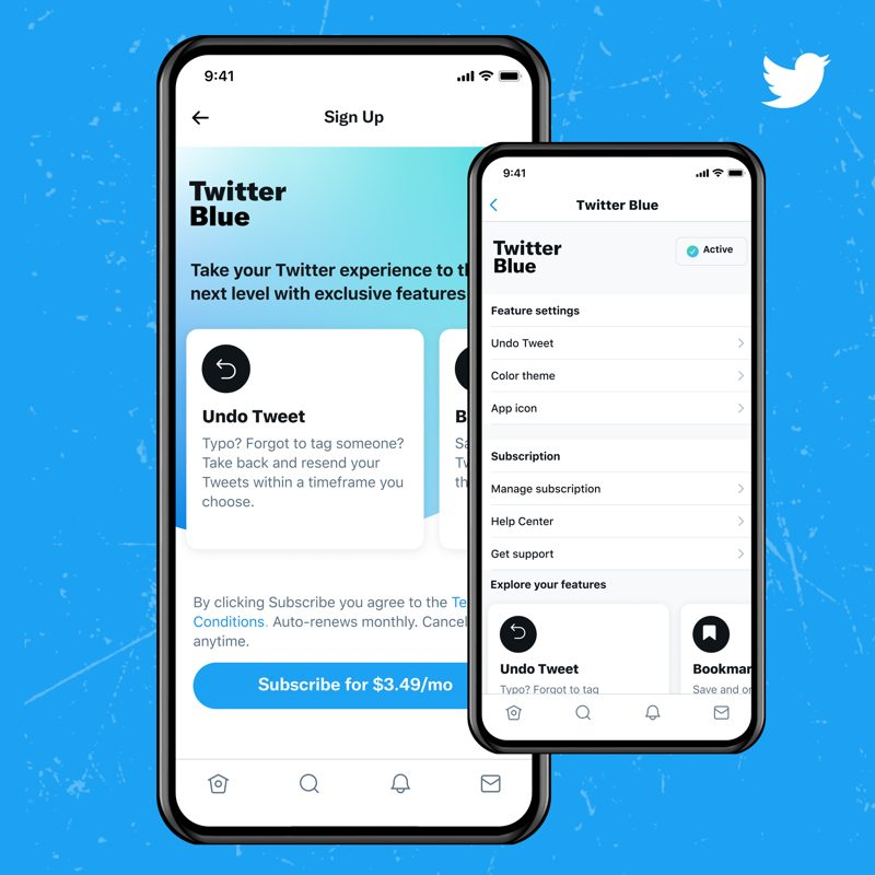 Twitter blue sign up