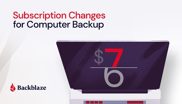 Subscription changes for Computer Backup