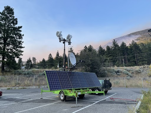 Temporary wireless coverage in Lytton BC July 2 2021